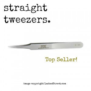 Vetus 2-SA Tweezers for eyelash extension. A top seller