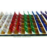 Glitter eyelash extension multi-colored tray.  Great to glam up the evening!