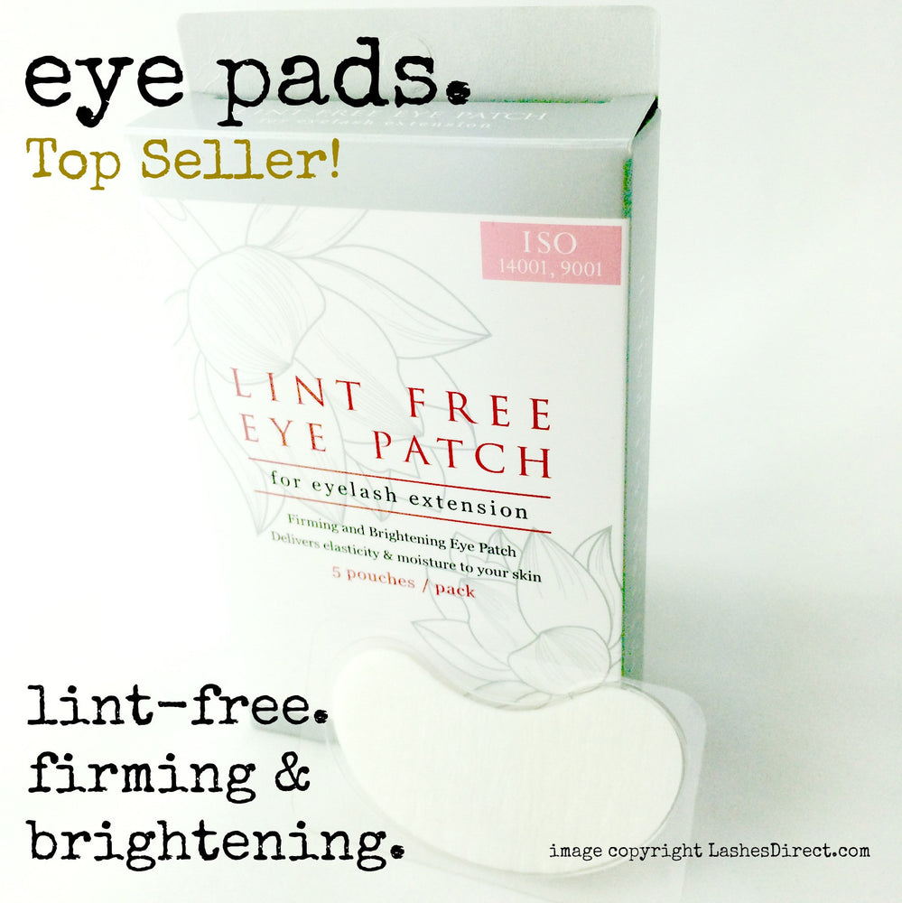 Lint Free Collagen Eye pads for Eyelash Extension Application.  Made by Blink