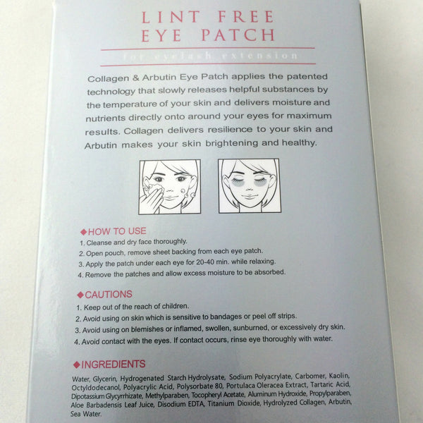 Lint-Free Eye Patch/ Eye Pads- for Eyelash Extensions (5 pack)