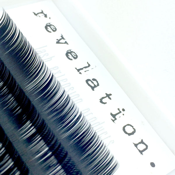 Image of the top of Revelation Illusion Flat Lash eyelash extension tray