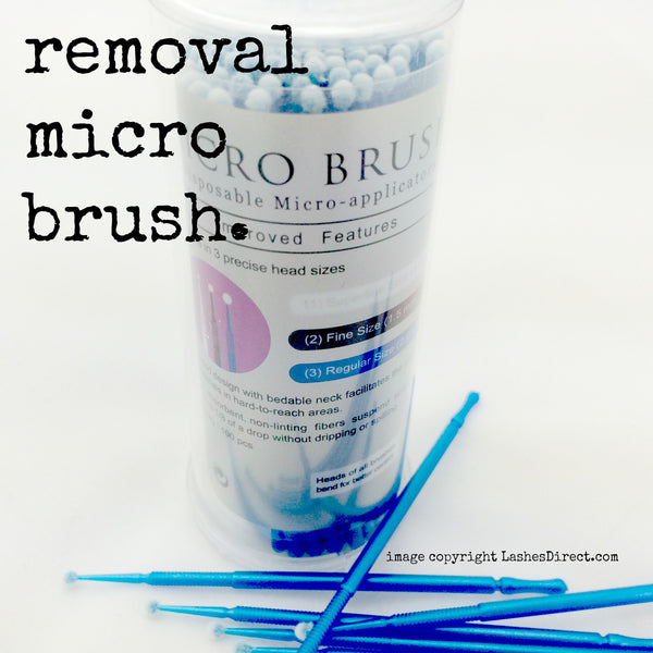 Micro Brush Swabs used for removal of eyelash extension glue.
