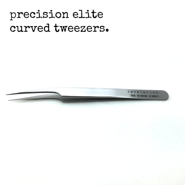 Precision Elite Curved Eyelash Extension Tweezers