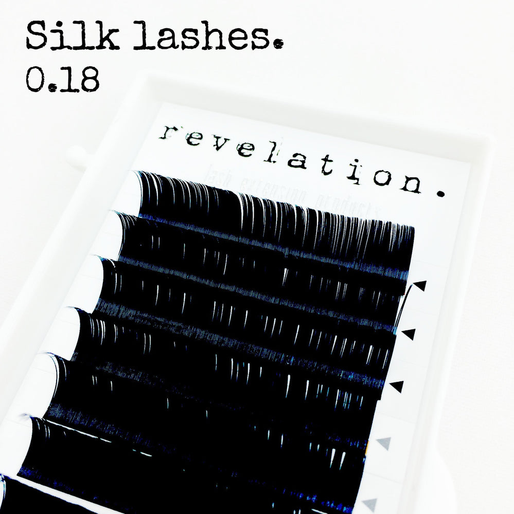 Load image into Gallery viewer, Silk eyelash extension tray 0.18 width
