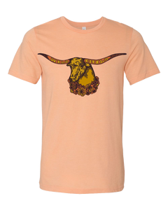 Peach Longhorn Shirt