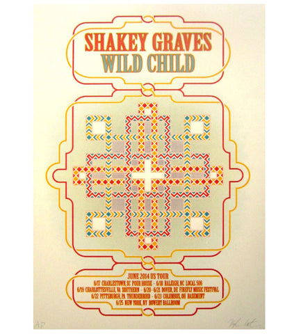 Limited Edition Wild Child & Shakey Graves Poster