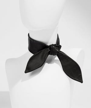 Leather Necktie - Black - UNCUFFED