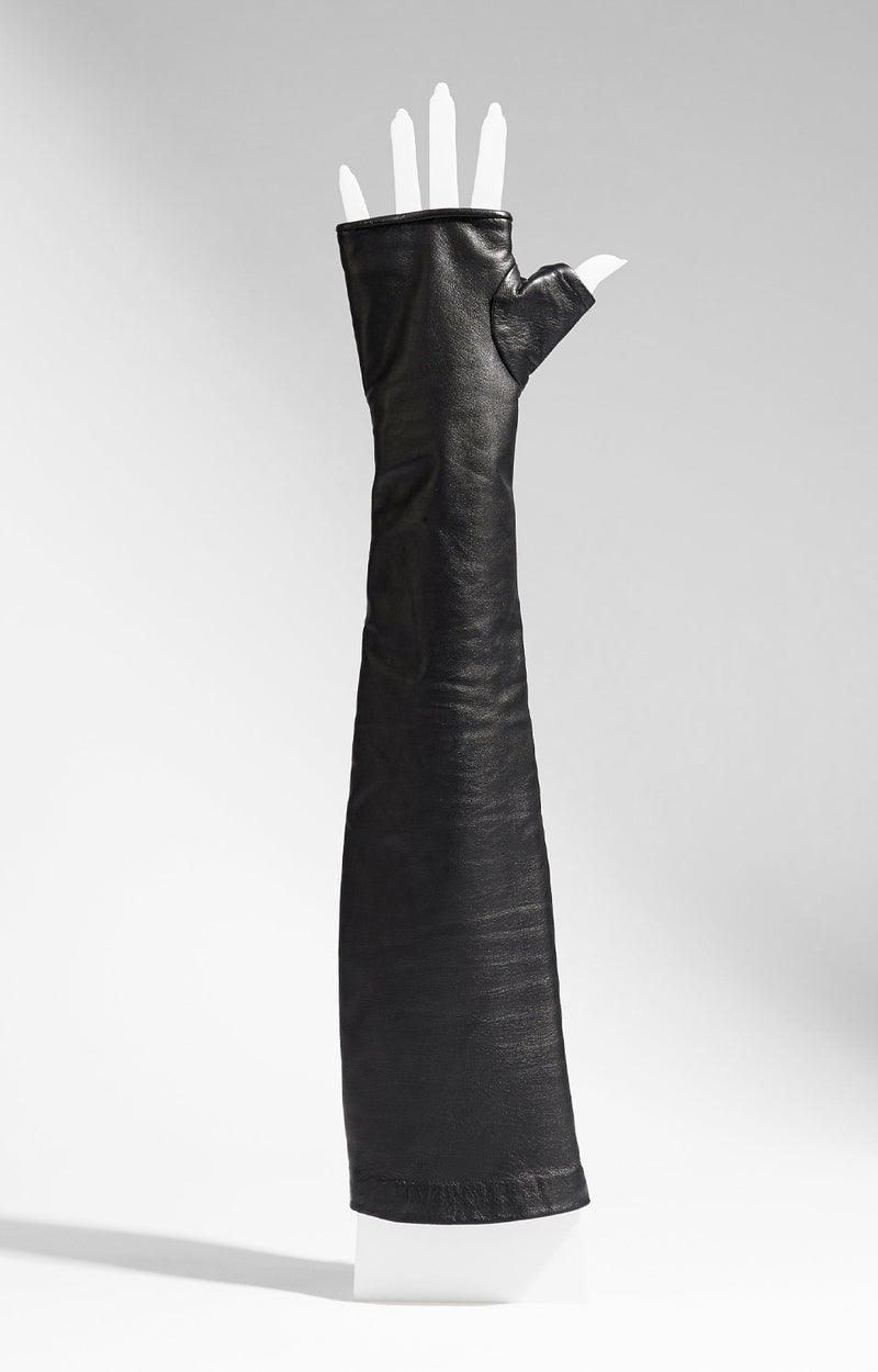 Fingerless Leather Opera Gloves