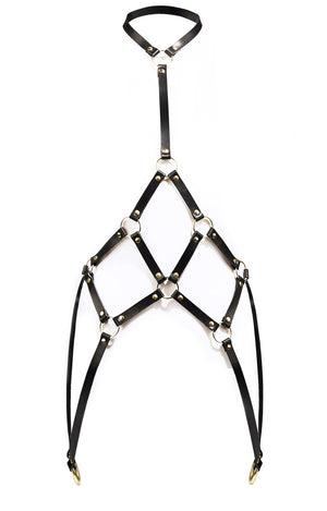 Cage Leather Body Harness