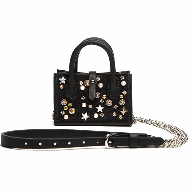 Frisky Mini Leather Bag with Crystals