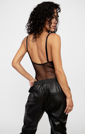 Indecisive Leather Bodysuit