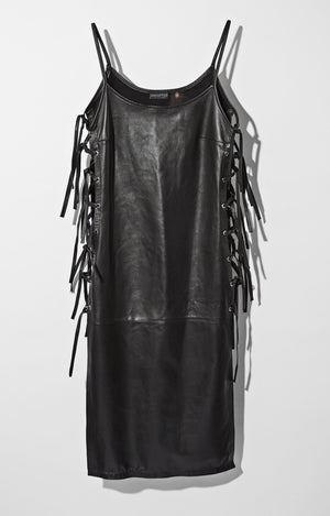 Leather Market Tie Dress