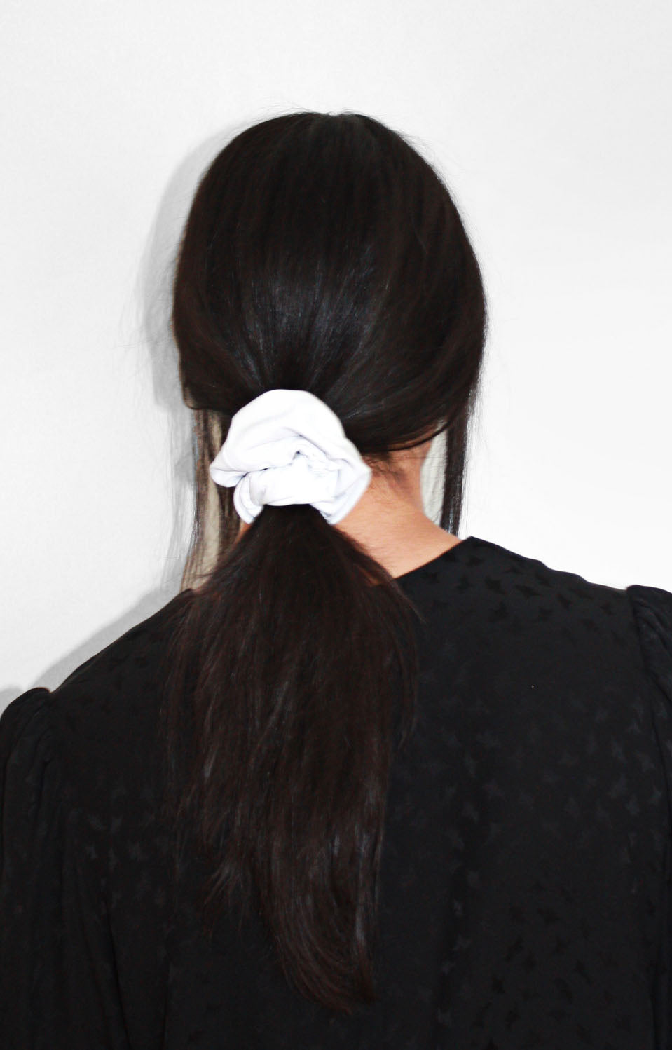 Rebel Mama X UNCUFFED Winter White Leather Scrunchie