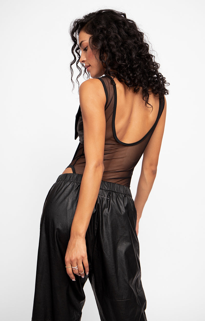 Venus Leather Bodysuit