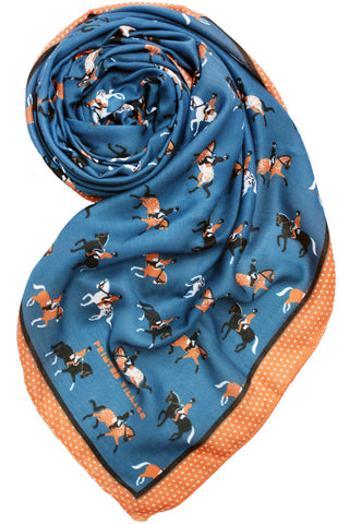 Dressage Horse Scarf Blue