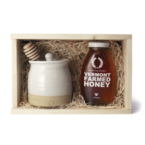 Honey & Beehive Honey Pot with Dipper