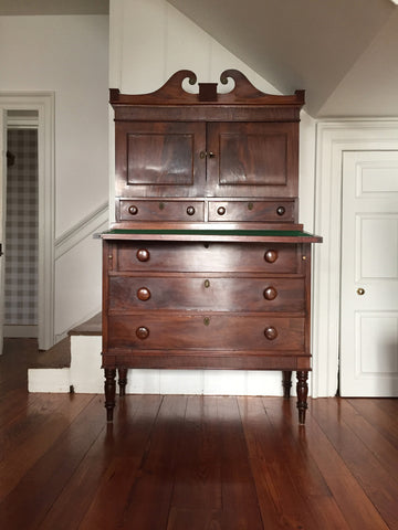 19th Century Mahogany Secretary Desk