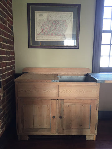 Antique Pine & Zinc Farm Sink