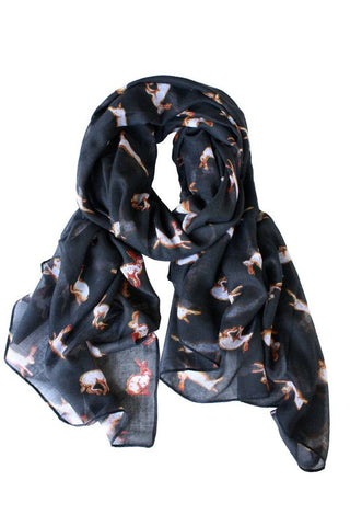 Running Rabbit Printed Scarf