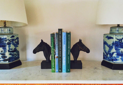Pair of Iron Horse Head Bookends