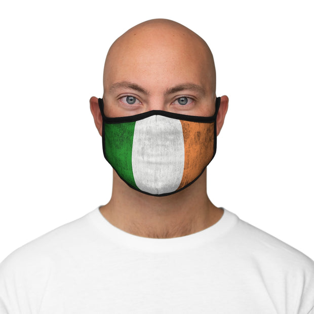 Fitted Polyester Face Mask - Weathered Flag of Ireland