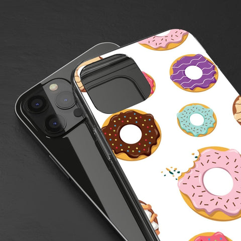Clear Phone Case - Donut Pattern