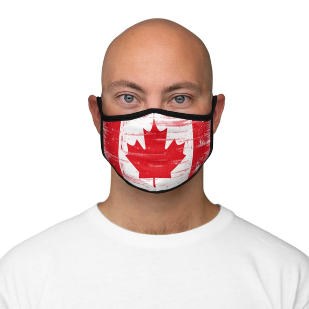 Fitted Polyester Face Mask - Canada Flag