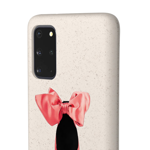 Biodegradable Phone Case - High Heels with Bow Red Bottoms