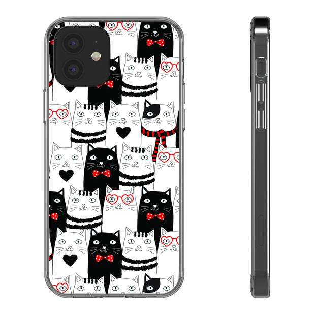 Clear Phone Case - Cat Hipster