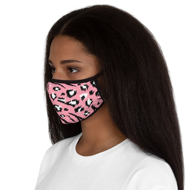 Fitted Polyester Face Mask - Tiger and Leopard Animal Pattern