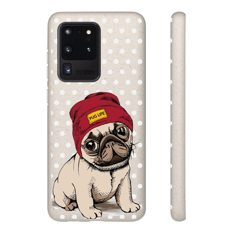 Biodegradable Phone Case - Pug Life