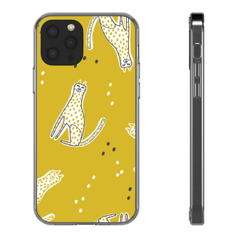 Clear Phone Case - Cheetah Pattern