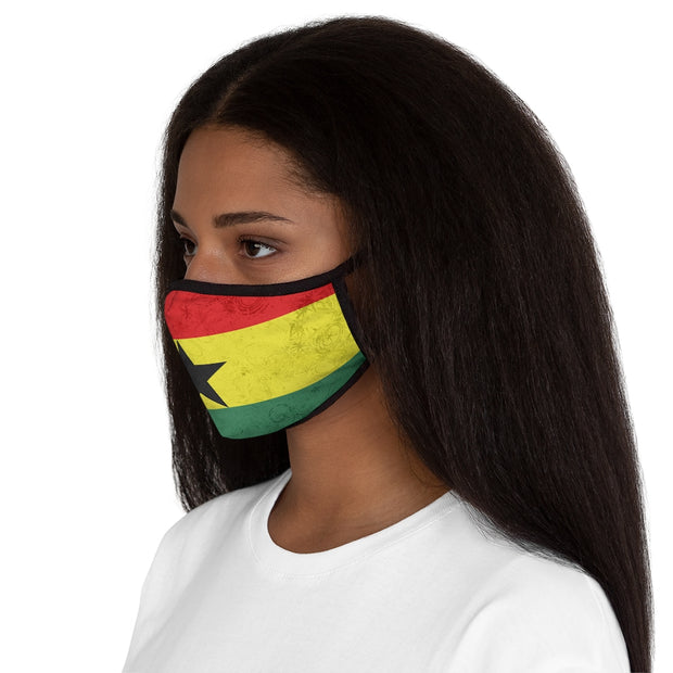 Fitted Polyester Face Mask - Flag of Ghana