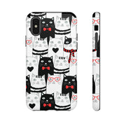 Tough Phone Case - Cat Hipster Pattern