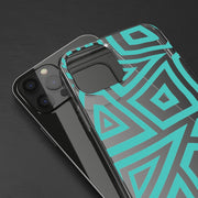 Clear Phone Case - Turquoise Tribal Pattern