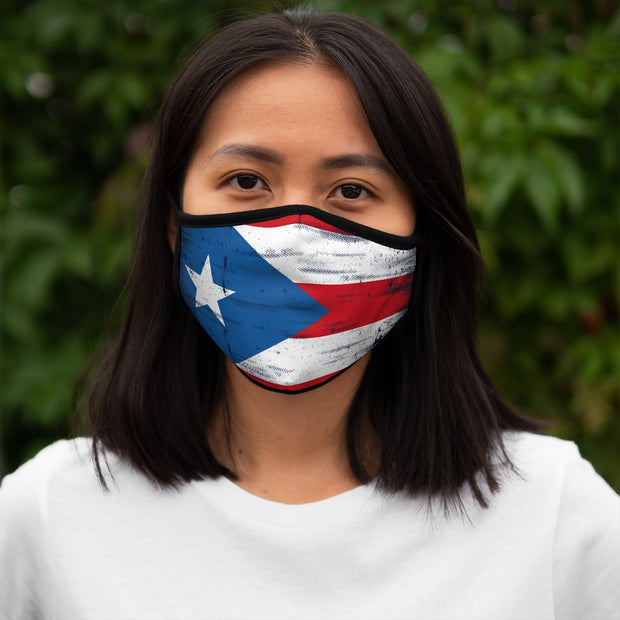 Fitted Polyester Face Mask - Puerto Rico Flag