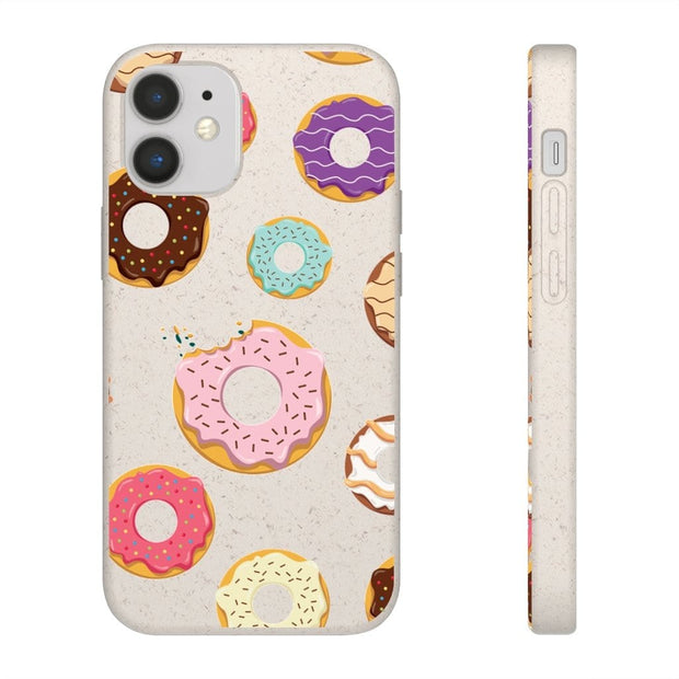 Biodegradable Phone Case - Donut Pattern