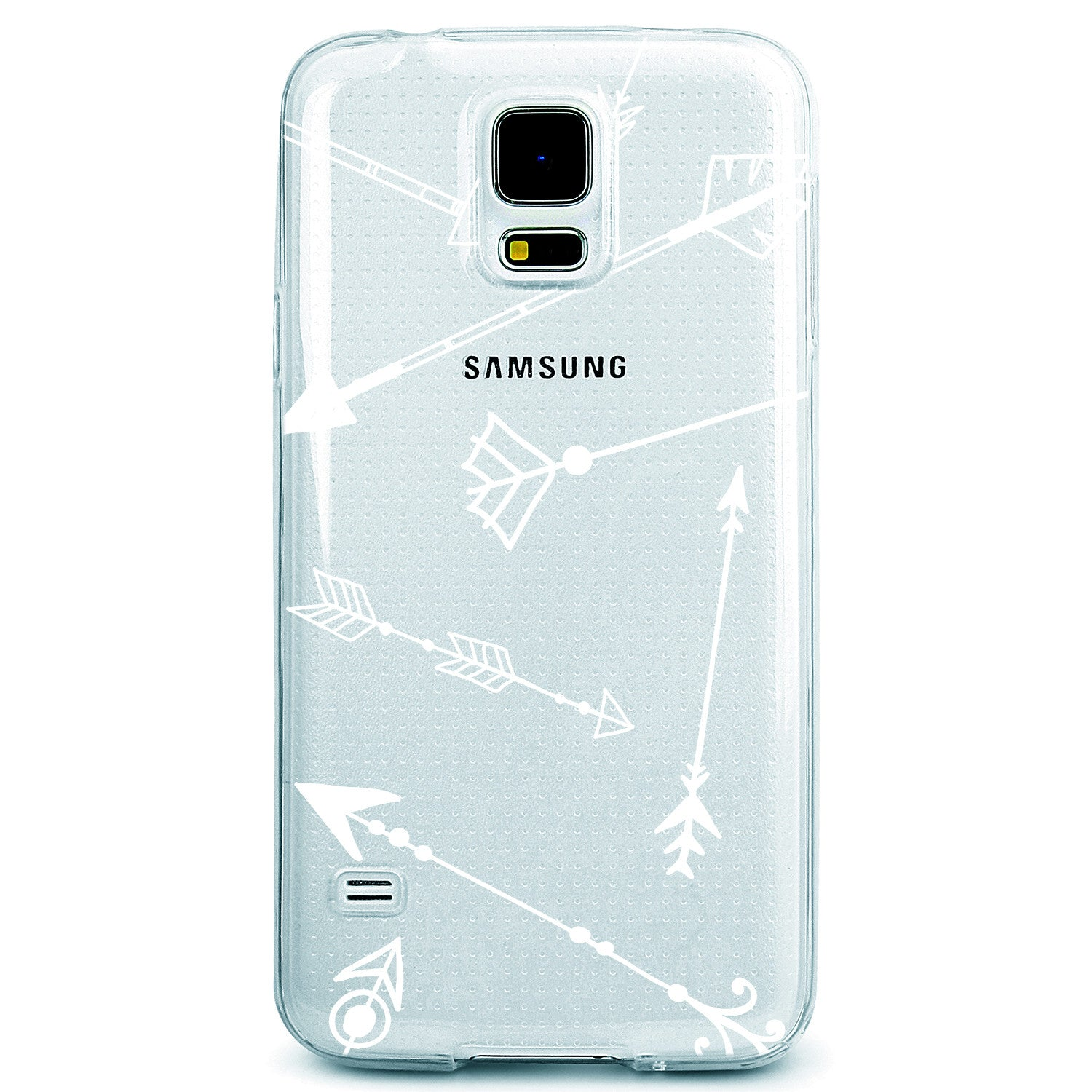 Black or White Bow and Arrows Clear TPU Case Cover for iPhone and Galaxy