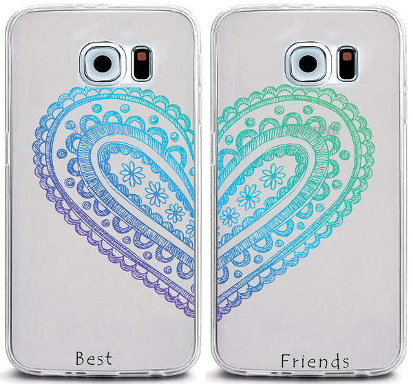 best friend iphone cases set of 2 best friends henna clear tpu cover 9118