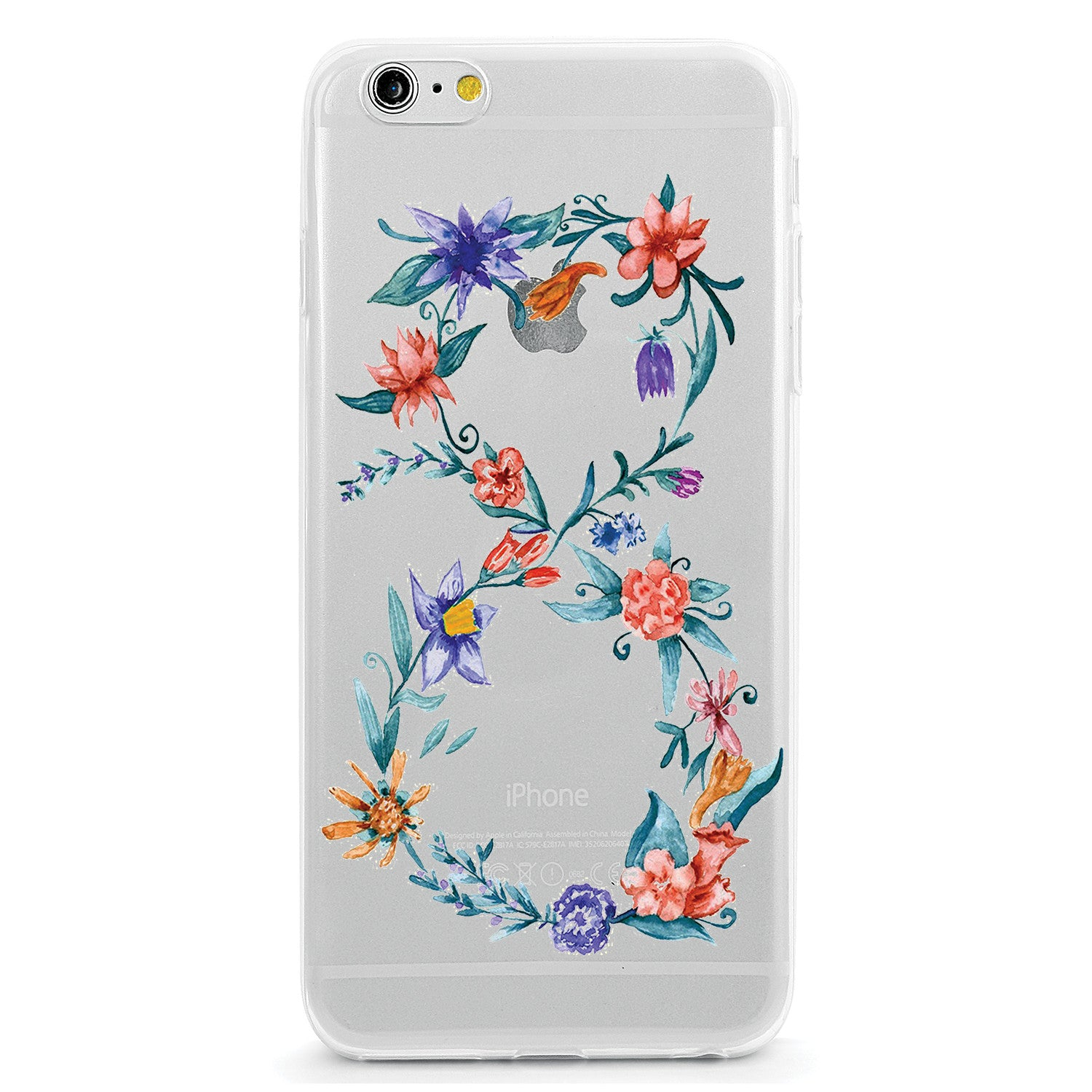 Infinity Symbol Flower Design Clear Tpu Case Cover For Iphone And