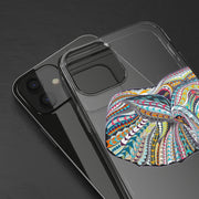 Clear Phone Case - Colorful Abstract Geometric Elephant