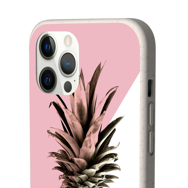 Biodegradable Phone Case - Pineapple Vintage Pink