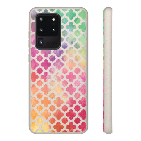 Biodegradable Phone Case - Rainbow Gradient Clovers