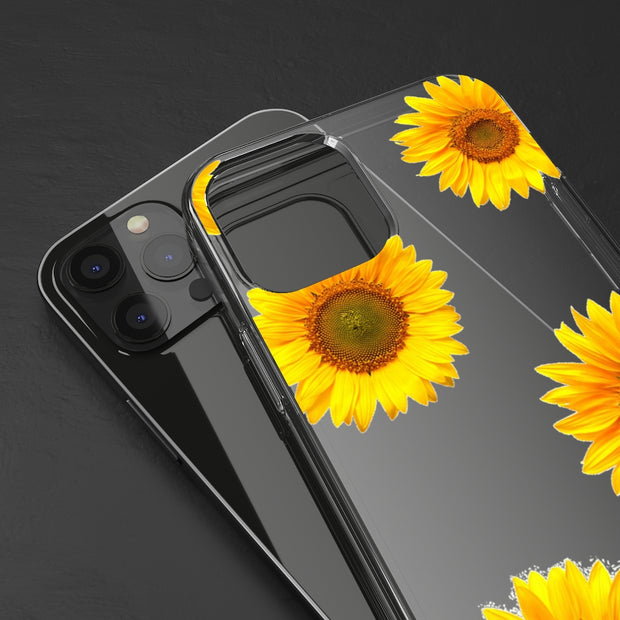 Clear Phone Case - Bright Yellow Sunflowers
