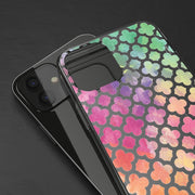 Clear Phone Case - Rainbow Gradient Clovers