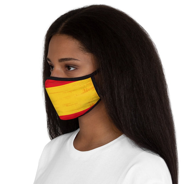 Fitted Polyester Face Mask - Spanish Flag