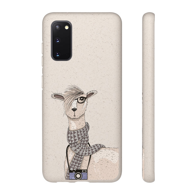 Biodegradable Phone Case - Hipster Llama
