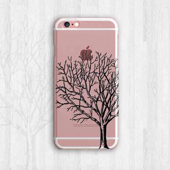 Black Or White Henna Design Tree Of Life Nature Clear Tpu Case Cover
