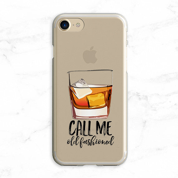 Call Me Old Fashioned Whiskey Clear Tpu Case Cover For Iphone And