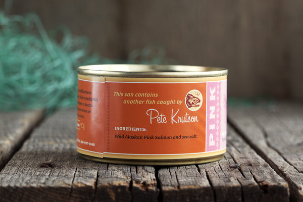 Gourmet Canned Wild Pink Salmon - 7.5 Ounce With Skin and Bones - Loki Fish Company
